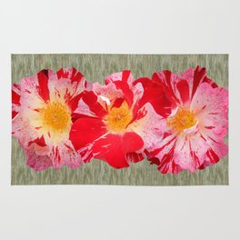 Fourth of July Rose Shabby Chic Print Rug