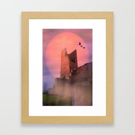 Castle in the evening Framed Art Print