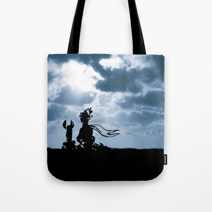 The little prince and the fox - dream version blue - quote Tote Bag