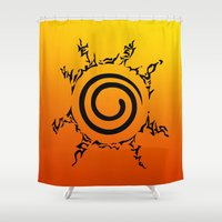 naruto Shower Curtains featuring NARUTO SEAL by Smart Friend