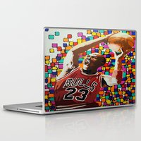 air jordan Laptop & iPad Skins featuring Jordan by CjosephART