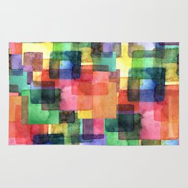 Watercolor blots plaid :) Rug