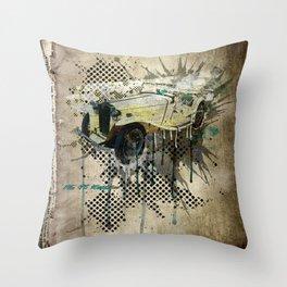 MG TC Roadster Throw Pillow