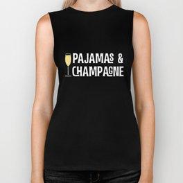 Pajamas and Champagne T-Shirt Biker Tank