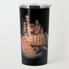 Surreal and Weird Armadillo Wall Art Print, Armadillo Lover Gift Travel Mug