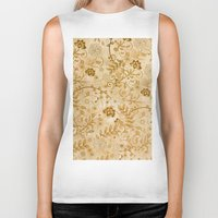 floral pattern Biker Tanks featuring Floral pattern by nicky2342