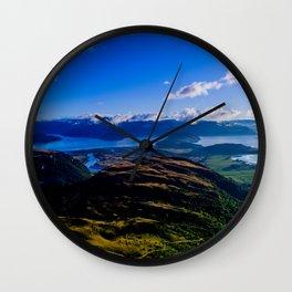lake wanaka covered in blue colors new zealand beauties Wall Clock