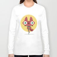 bicycle Long Sleeve T-shirts featuring Bicycle by Maria Jose Da Luz