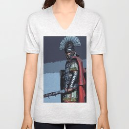 Ancient Roman Centurion Unisex V-Neck