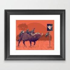 I'll take the buffalo Framed Art Print
