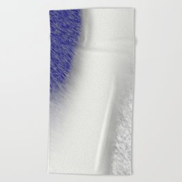 """""""Between Navy and White"""" Beach Towel"""