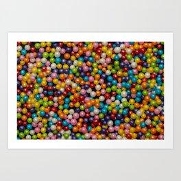 Rainbow Delicious Candy Art Print