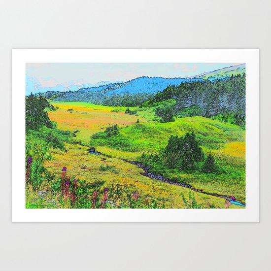 Alaska's Kenai Peninsula - Watercolor Art Print