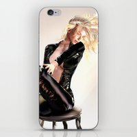 leather iPhone & iPod Skins featuring Leather Forever by DeeDee