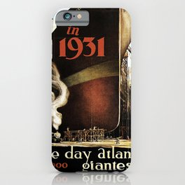 classic poster in 1931 iPhone Case