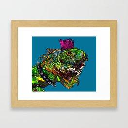 Punk Iguana Framed Art Print