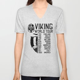Viking World Tour - Raid Dates Unisex V-Neck