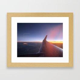 Airplane/Wing/Skies Framed Art Print
