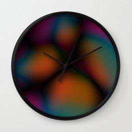 Dark Colorful Blobby Design Wall Clock