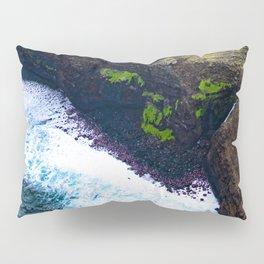 Coastal Cliffs Hawaiian Tropical Beach Pillow Sham