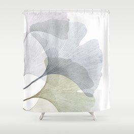 Ginkgo Biloba Leaves Shower Curtain