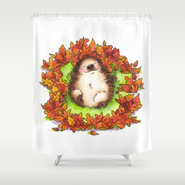 Fall Hedgie 3 Shower Curtain