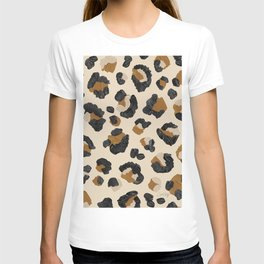 Leopard Print – Neutral Gold Light Palette T-shirt