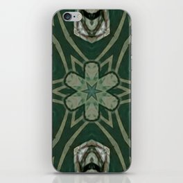 The Green Unsharp Mandala 4 iPhone Skin
