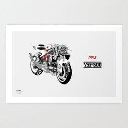 YZR500 Art Print