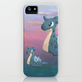 Swimming with Lapras. iPhone Case