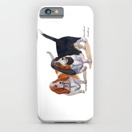 Basset hounds - Double trot iPhone Case