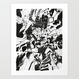 Here to Mars Art Print