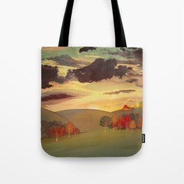 Gold field Tote Bag