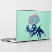 peony Laptop & iPad Skins featuring Peony by Ludovic Jacqz