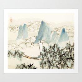 XuGu - Sailing in the clouds Art Print