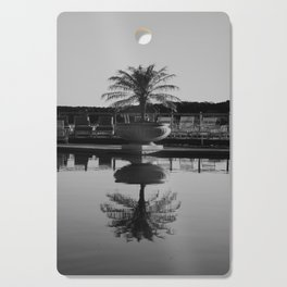 Tropical Reflection (Black and White) Cutting Board