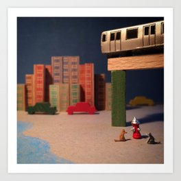 The Summer Cats & The Smith and 9th Street Stop Art Print