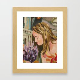 Oak Bay Flower Market Framed Art Print