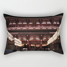 Asakusa sensoji at night 002 Rectangular Pillow