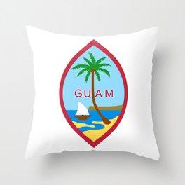 Seal of Guam Throw Pillow