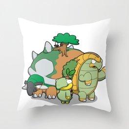 Terra Turtles Throw Pillow