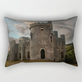 Clifden Castle at the sunset Rectangular Pillow