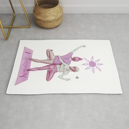 Yogi Love pink colours Rug