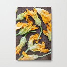 Zucchini Blossoms Metal Print