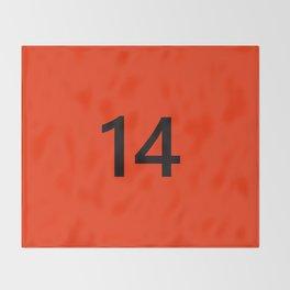 Legendary No. 14 in orange and black Throw Blanket