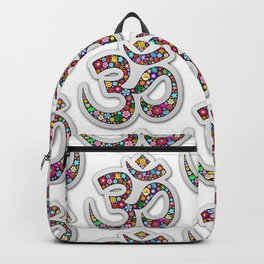 Namaste Floral Yoga Symbol Backpack