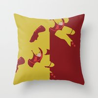 daredevil Throw Pillows featuring Daredevil by Young Jake