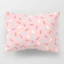 Pink Sprinkle Confetti Pattern Pillow Sham