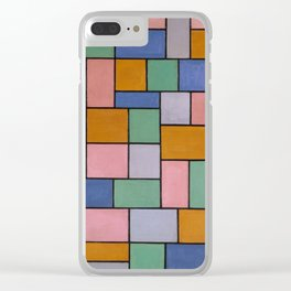 Theo van Doesburg / Composition in dissonances Clear iPhone Case