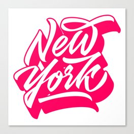 New York City original lettering Canvas Print